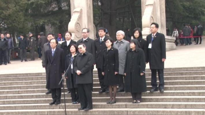 103年2月12日陸委會王郁琦主委於南京中山陵談話